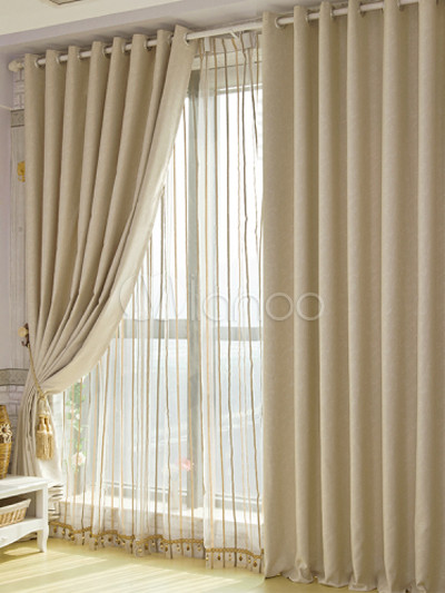 Cortinas De Baño Color Beige:Home Theater Blackout Curtains