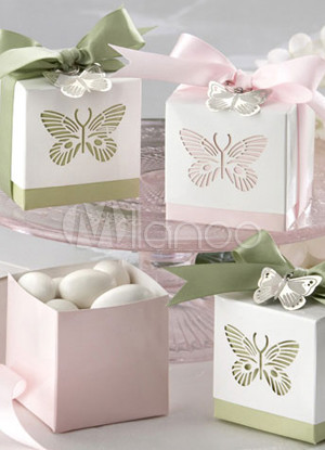 Butterfly Cut Out Card Paper Set of 12 Favor Holders