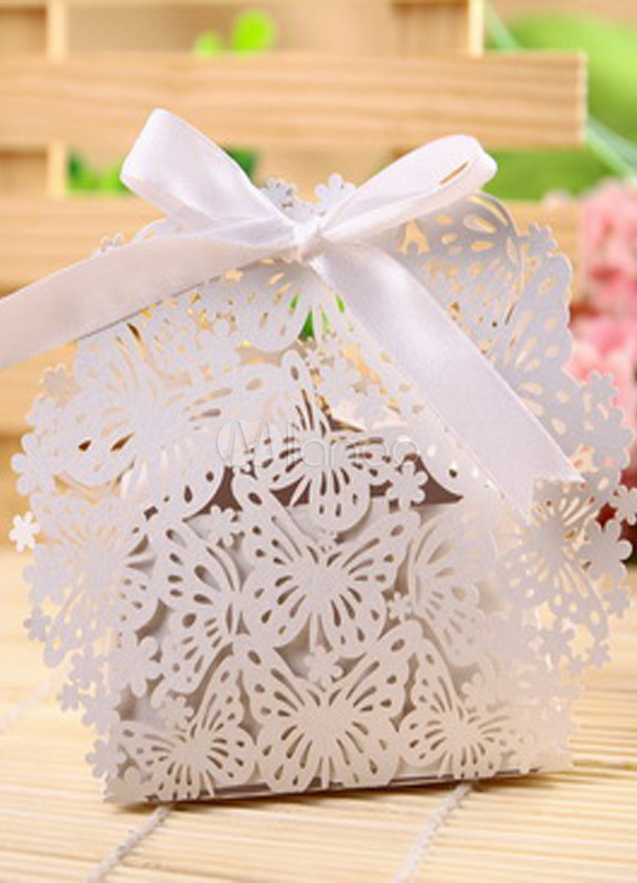 Butterfly Flower Laser Cut Set of 12 Favor Holders
