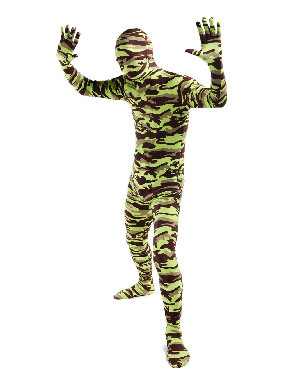Fantastic Camouflage Lycra Spandex Full Body Zentai Suit