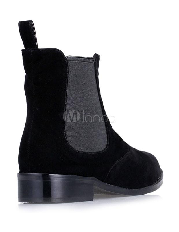 schwarze chelsea boots aus nubukleder f r damen. Black Bedroom Furniture Sets. Home Design Ideas
