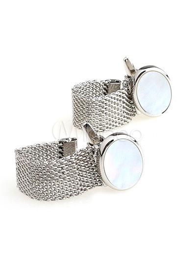 Noble Silver Pearl Men's Cufflinks thumbnail