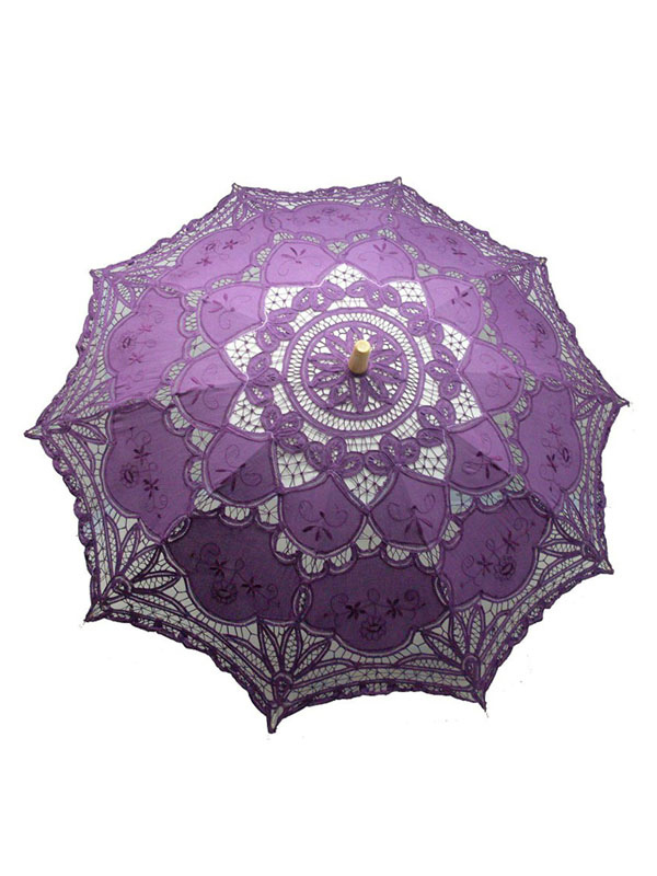 Purple Lace Wood Wedding Umbrella $24.99 AT vintagedancer.com