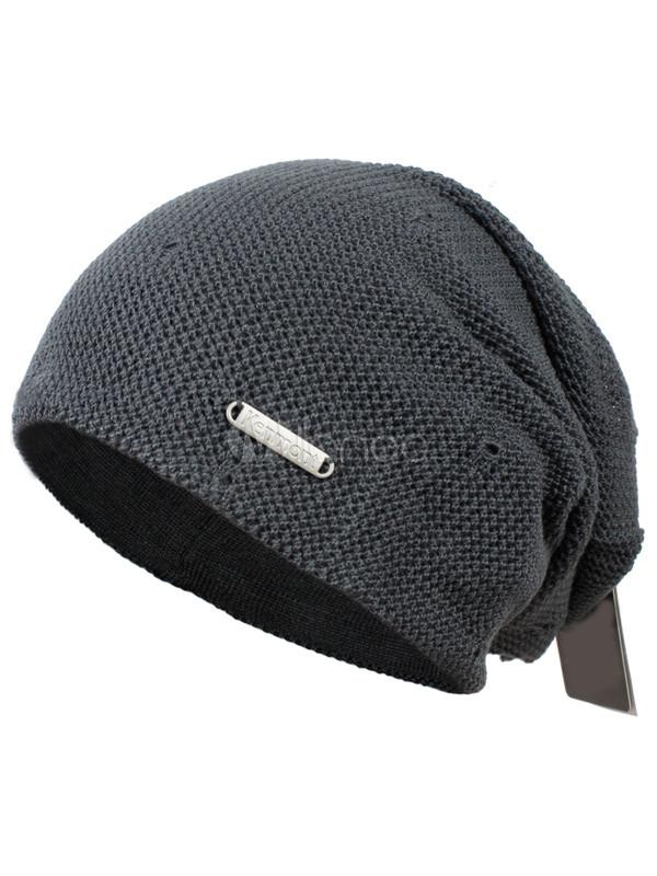Bonnet homme stylé, coton couleur unie,No.7