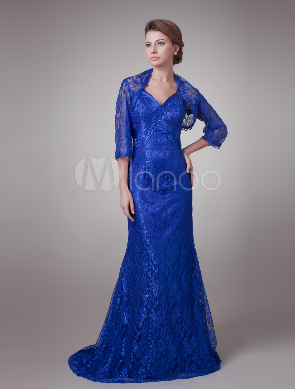 Hot Royal Blue Satin Sweetheart A-Line Mother of The Bride Dress (Wedding) photo