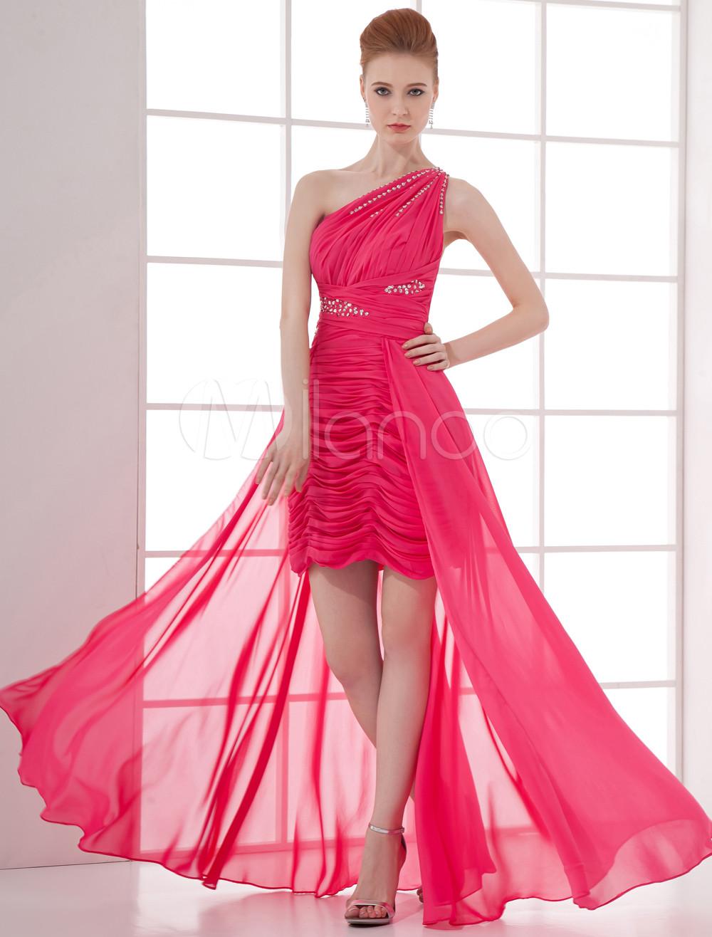 vestidos fiesta color rosa fucsia