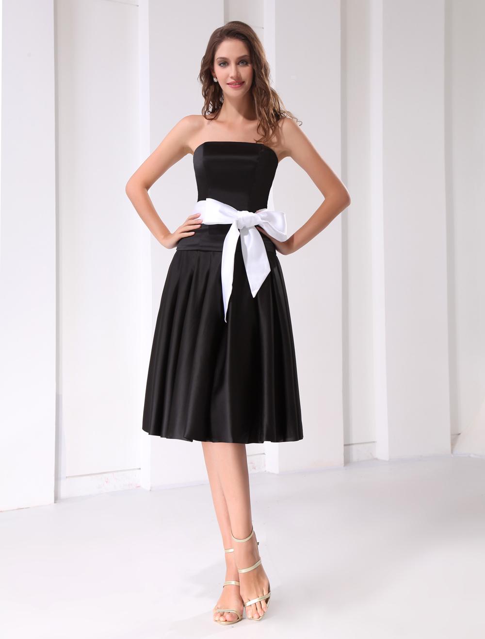 Strapless Knee-Length Prom Dress (Wedding Cheap Party Dress) photo