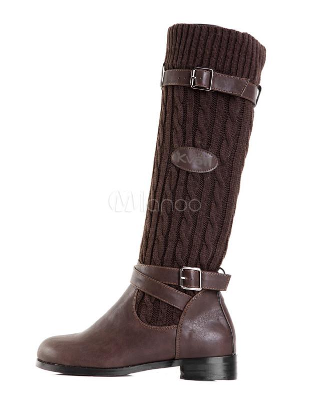 Pu caf nica punto pa o split hebilla botas de montar a for Botas montar a caballo