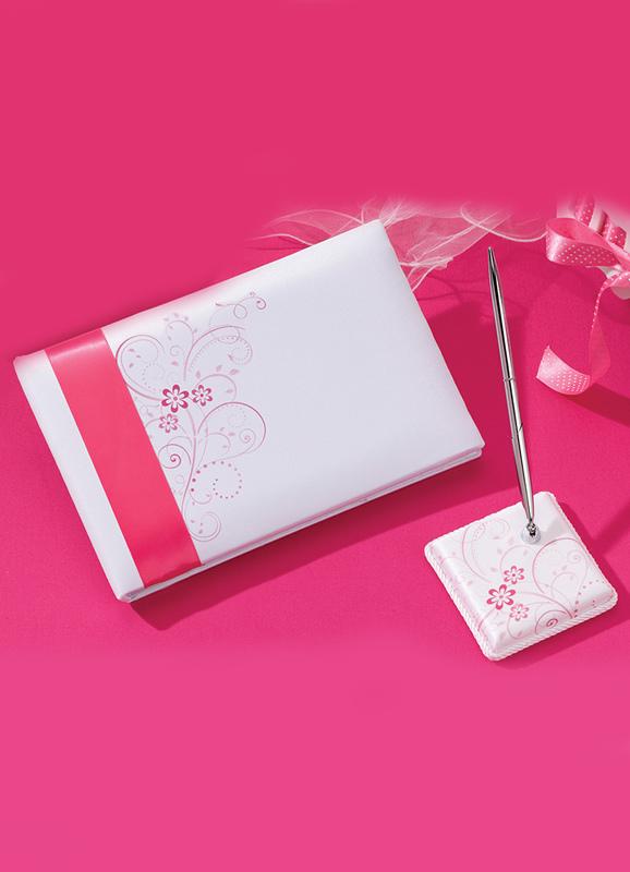 superbes livre d 39 or et stylos blancs pour le mariage. Black Bedroom Furniture Sets. Home Design Ideas