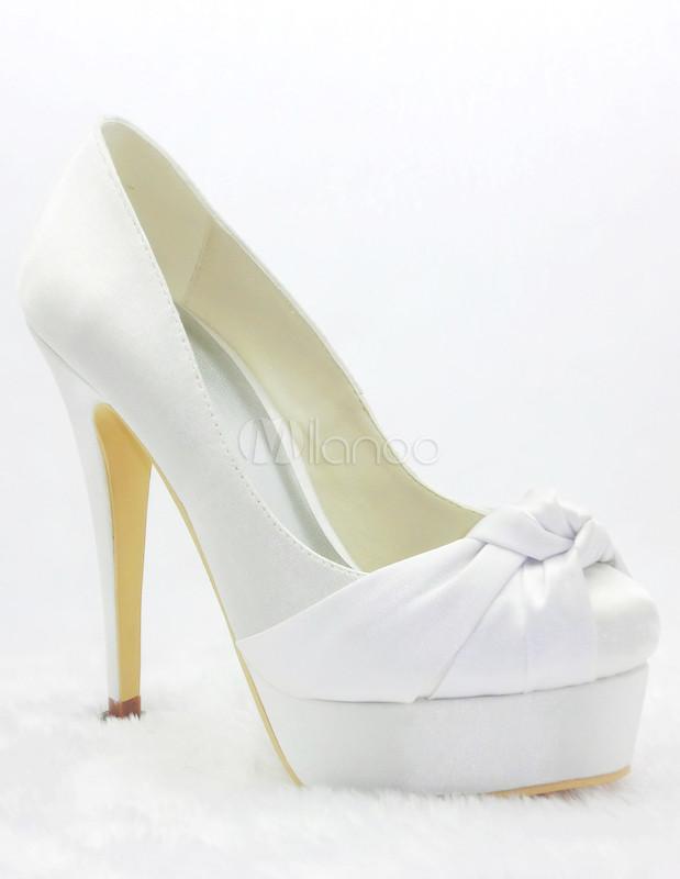 Zapatos Tacon Blanco