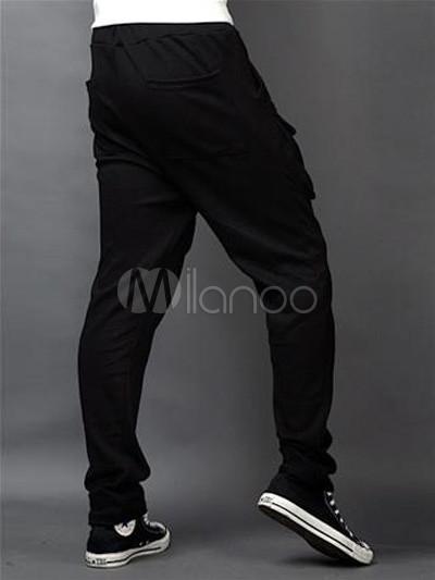 pantalon pour homme chic harem coton noir. Black Bedroom Furniture Sets. Home Design Ideas