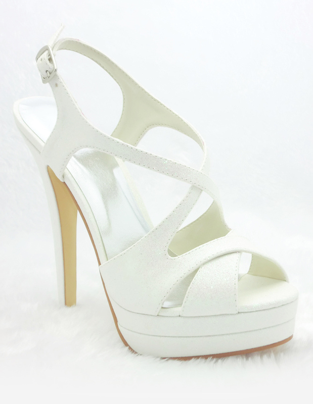 elegante hochzeit sandaletten mit plattform und high heels. Black Bedroom Furniture Sets. Home Design Ideas
