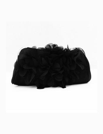Popular Floral Rhinestone Silk Clutch Bag