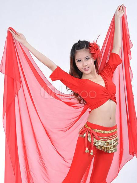 Velo da ballo rosso per ballerino a forma di scialle in for Cappuccio da cabina da ballo