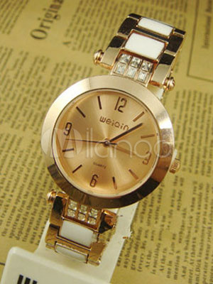 Modern Rhinestone Metal Alloy Women's Bracelet Watch