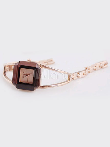 Modern Square Metal Alloy Women's Bracelet Watch