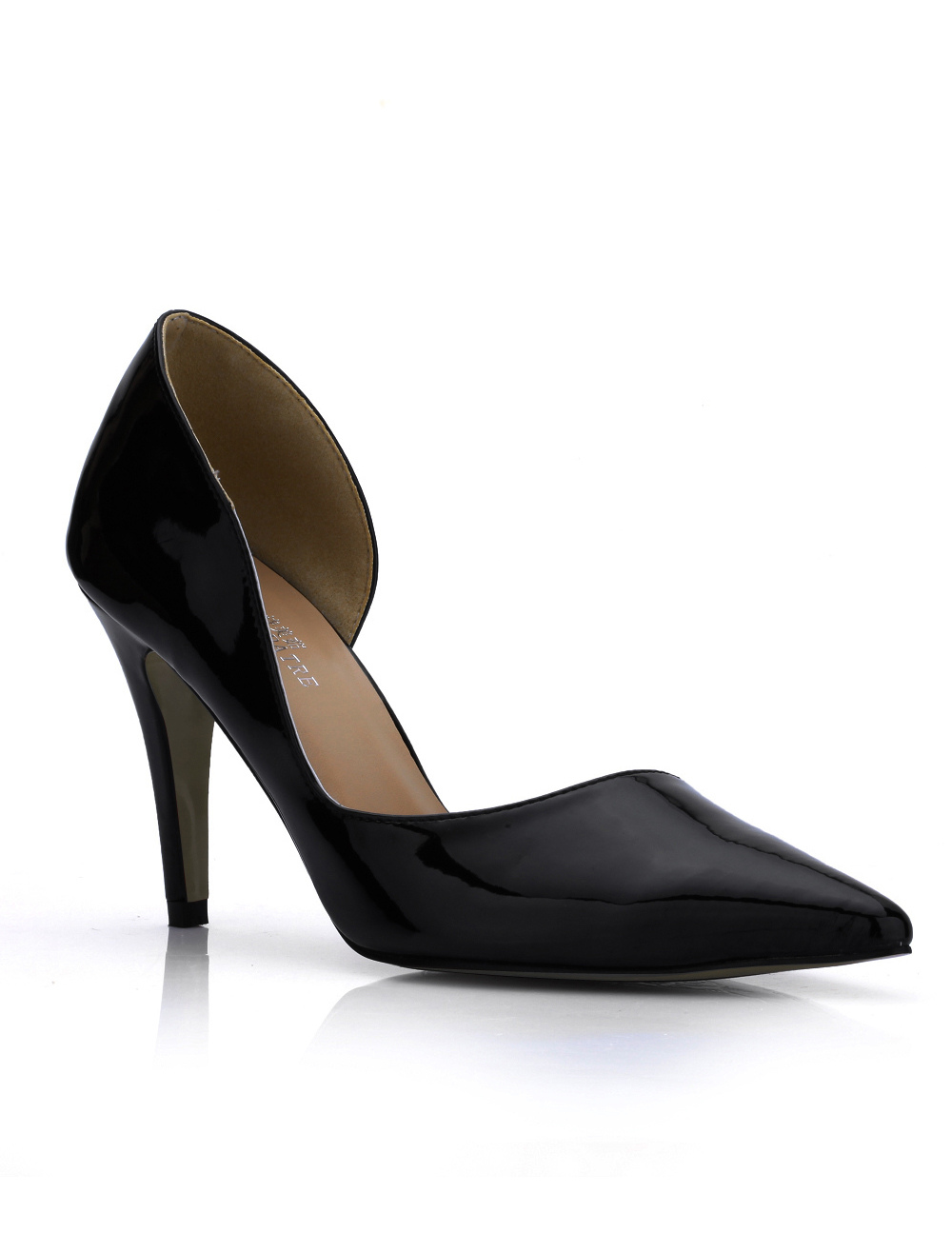 Vintage Black Patent Leather Pointed Toe Women's Dress Pumps thumbnail