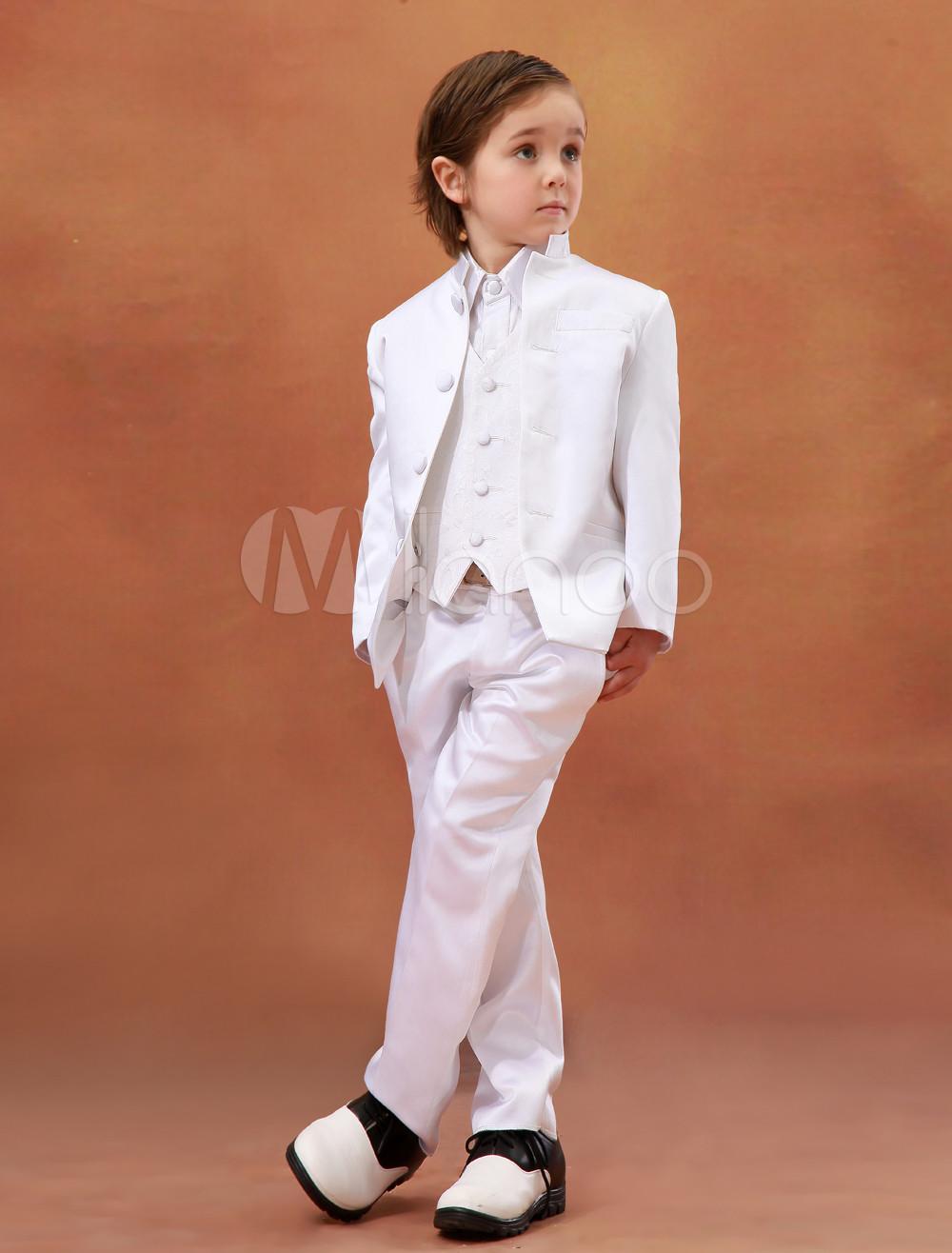 Vestidos de boda para ni os de sat n satinado de color - Trajes de angelitos para ninos ...