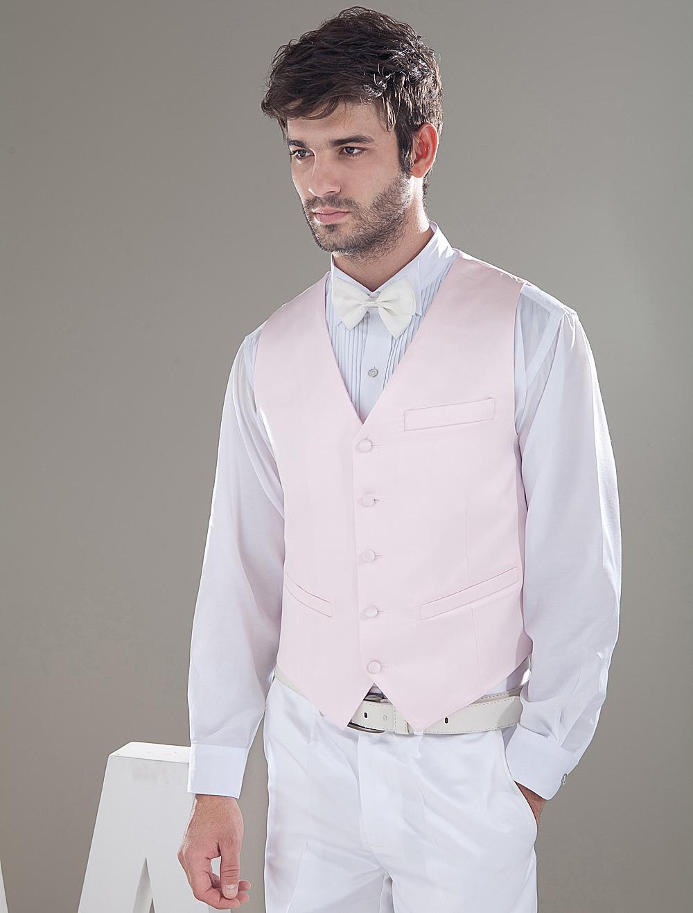 beliebte herren weste aus satin in rosa f r hochzeit. Black Bedroom Furniture Sets. Home Design Ideas