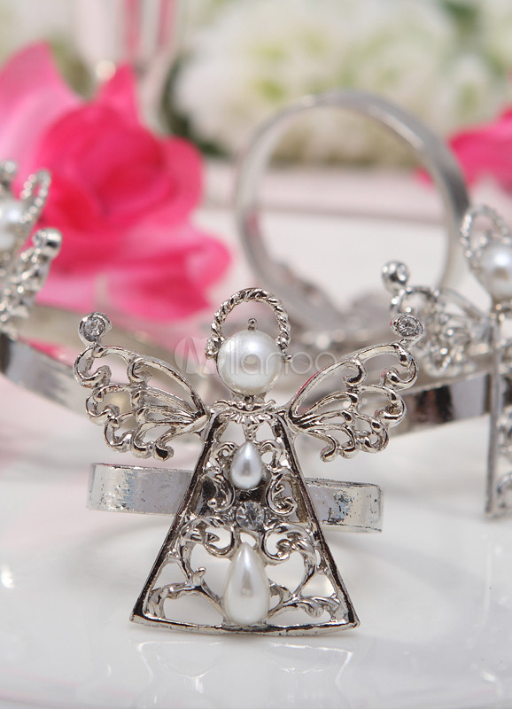 Silver Angel Napkin Rings(Set of 4)