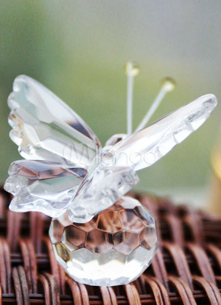 Clear Crystal Butterfly Wedding Favors