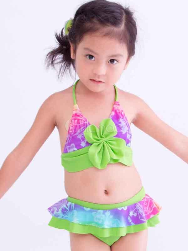 Sexy neckholder bow dekoriert aus polyester m dchen bikini - Bonprix kinderkleider ...
