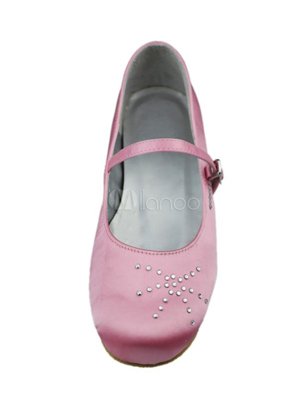 bella rosa round toe scarpe di raso fiore ragazza alla moda. Black Bedroom Furniture Sets. Home Design Ideas