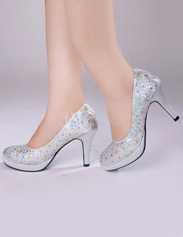 Sandali argento eleganti