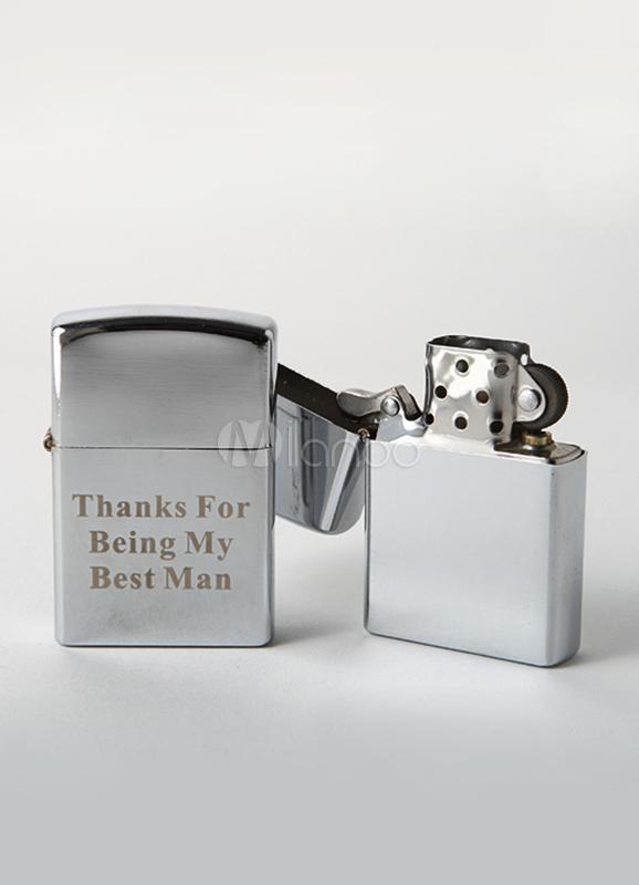 Silver Zinc Print Lighter Wedding Favors