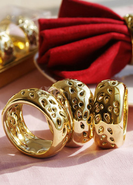 Ceramic Ring Napkin Rings (4 Piece Pack)-More Colors