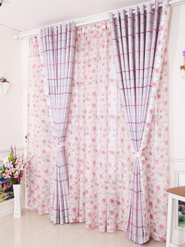 Qualité Multi couleur Plaid stores de tendance Polyester