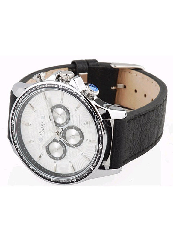 Leather Strap Teen Guy's Cool Casual Watch