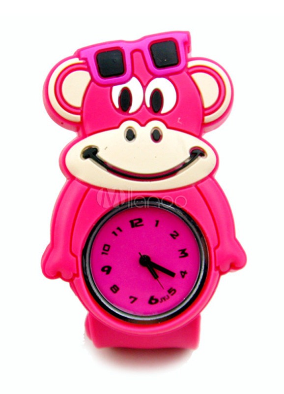 Sweet Cartoon Monkey Shape Kid's Cool Casual Watch