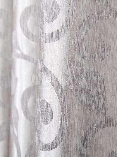 Cortinas elegantes poli ster jacquard gris fabulosos for Cortinas gris plata