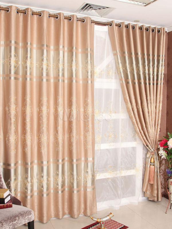 sch ne multi color jacquard polyester elegante vorh nge. Black Bedroom Furniture Sets. Home Design Ideas