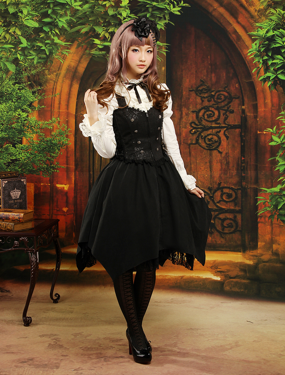 Multi Color Bow Long Sleeves Jacquard Cute Lolita Outfits