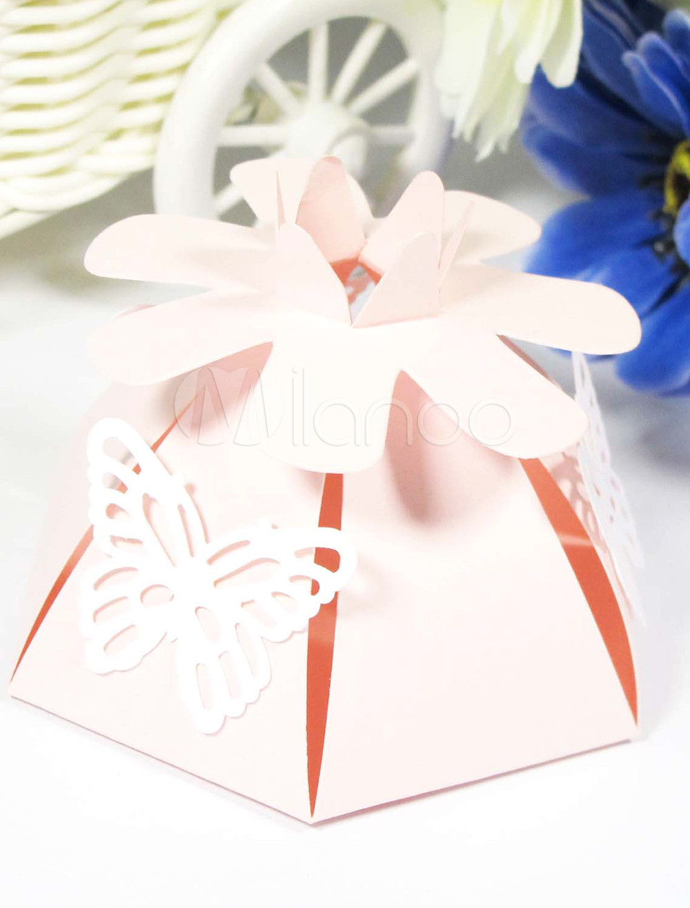 Beautiful Flower Butterfly Paper Wedding Favor Set of 12