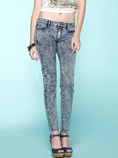 Fabulous Distressed Colored Cotton Women's Jeans