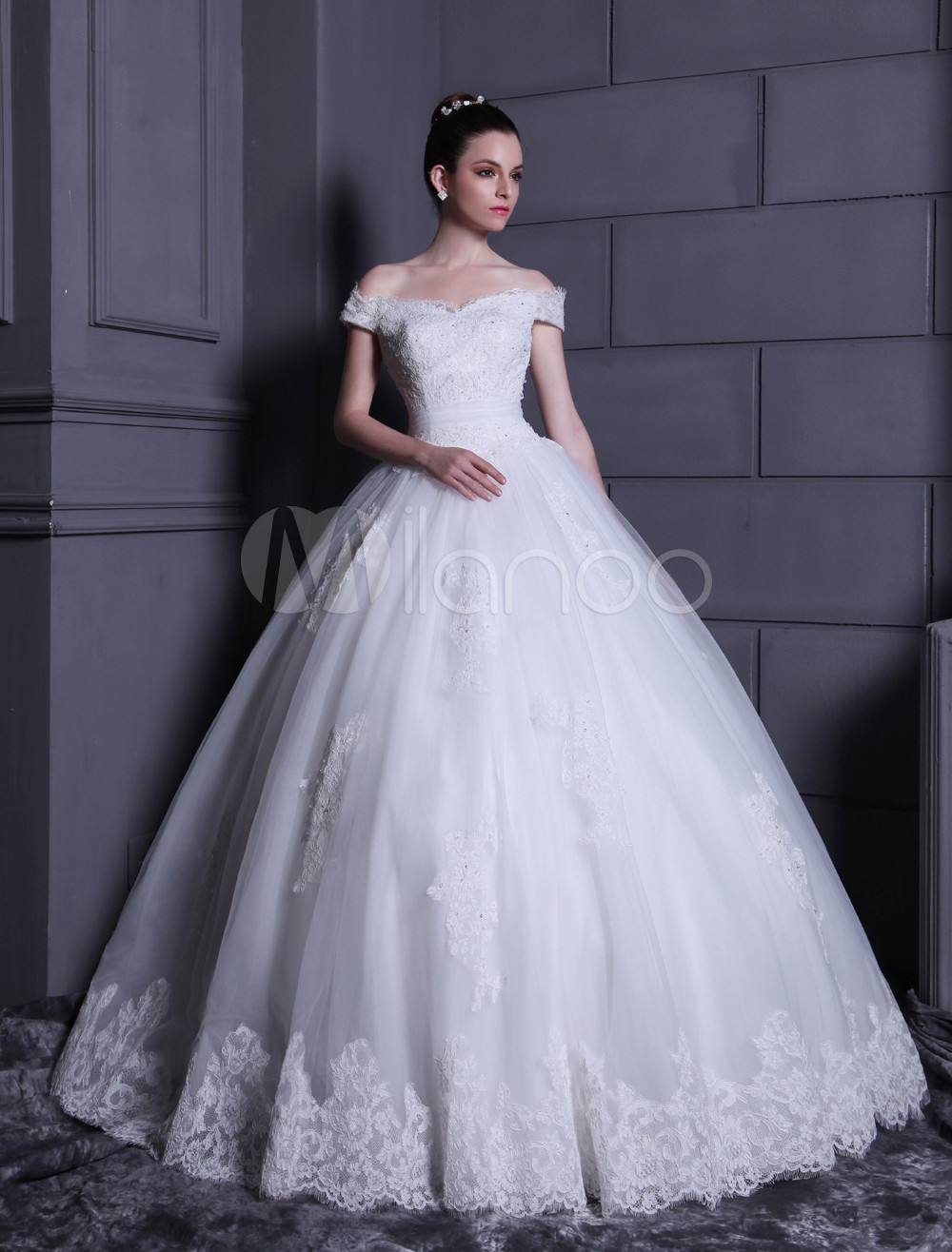 Robe de mariee boule blanche