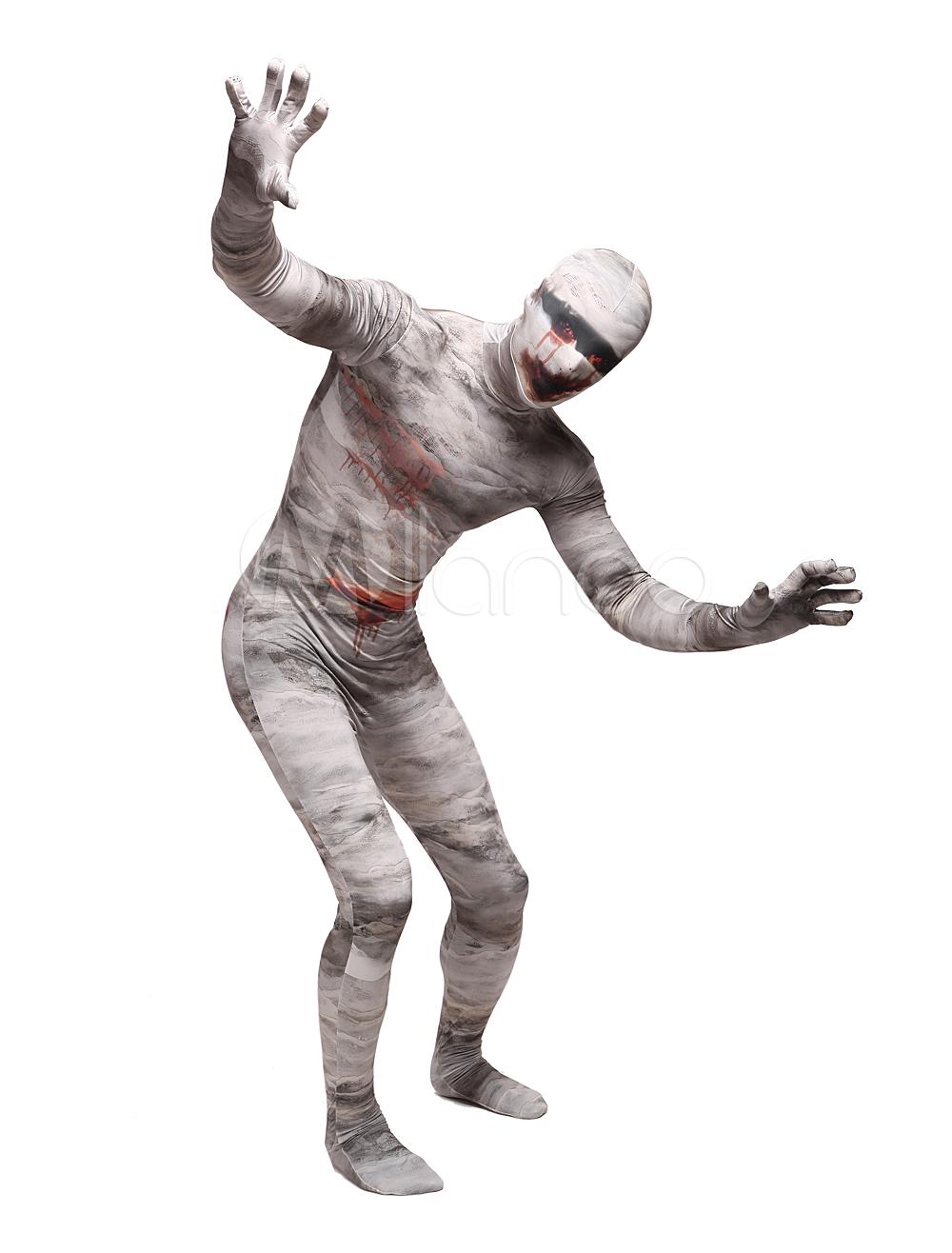 Mummy Unisex Lycra Spandex Stylish Multicolor Zentai Suits Halloween cosplay costume