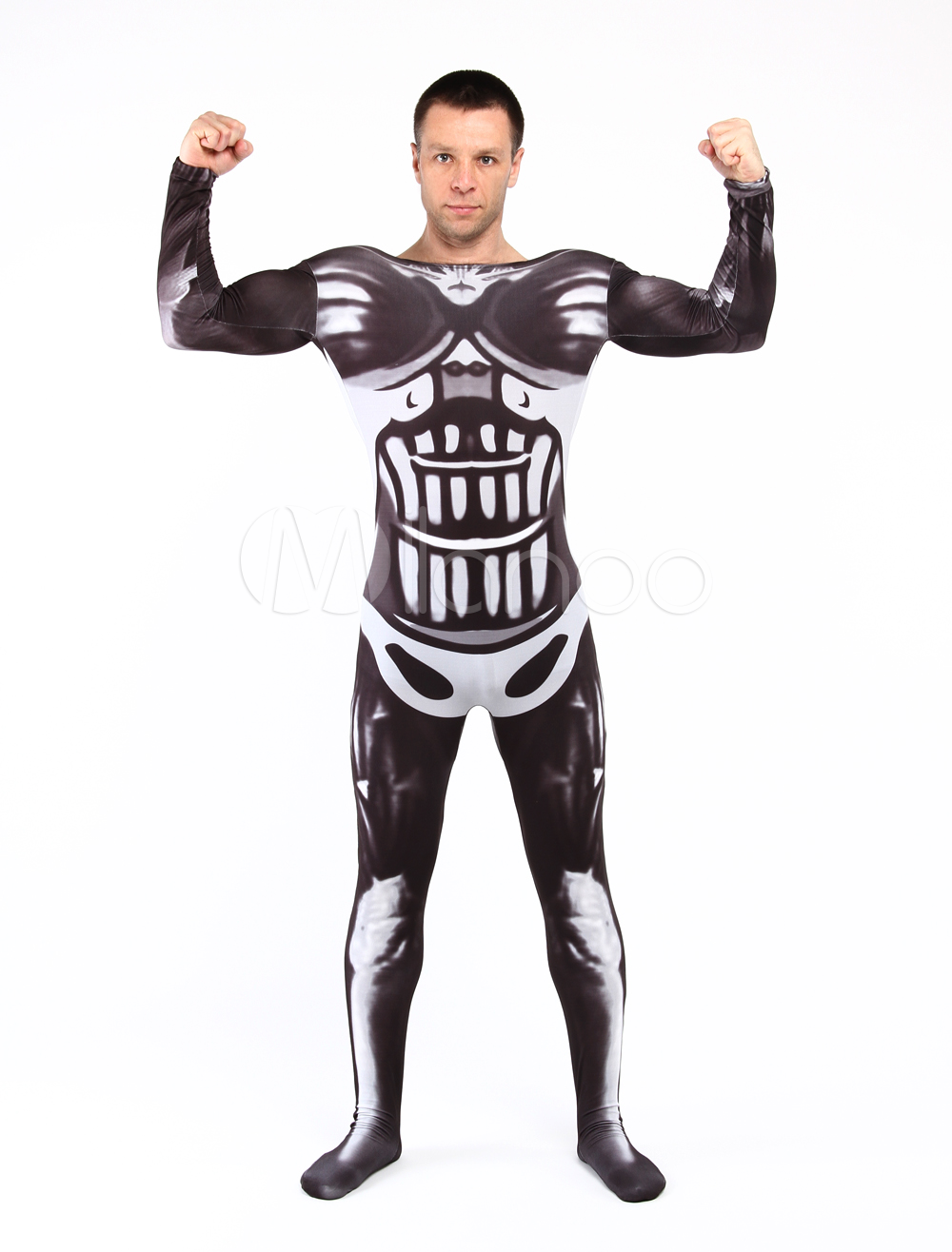 Muscle Fighter Unisex Lycra Spandex Stylish Multicolor Zentai Suits Halloween cosplay costume