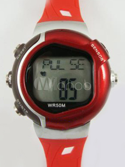 Amazing Athletic Rubber Round Shape Chic Sports Watch