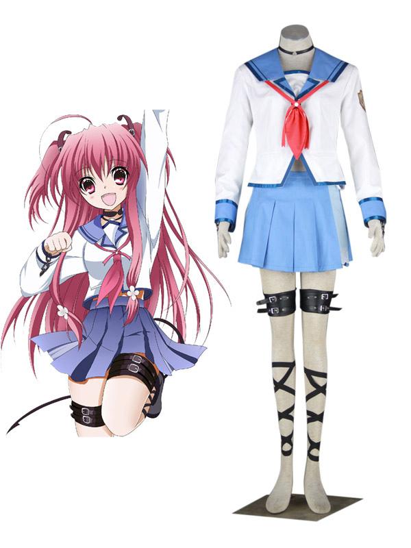 Angel Beats Yui Halloween Cosplay Costume School Uniform Halloween