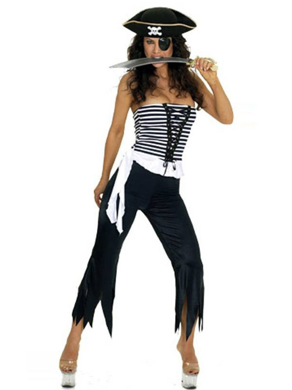 Black Halloween Stylish Womens Adult Pirate Costume
