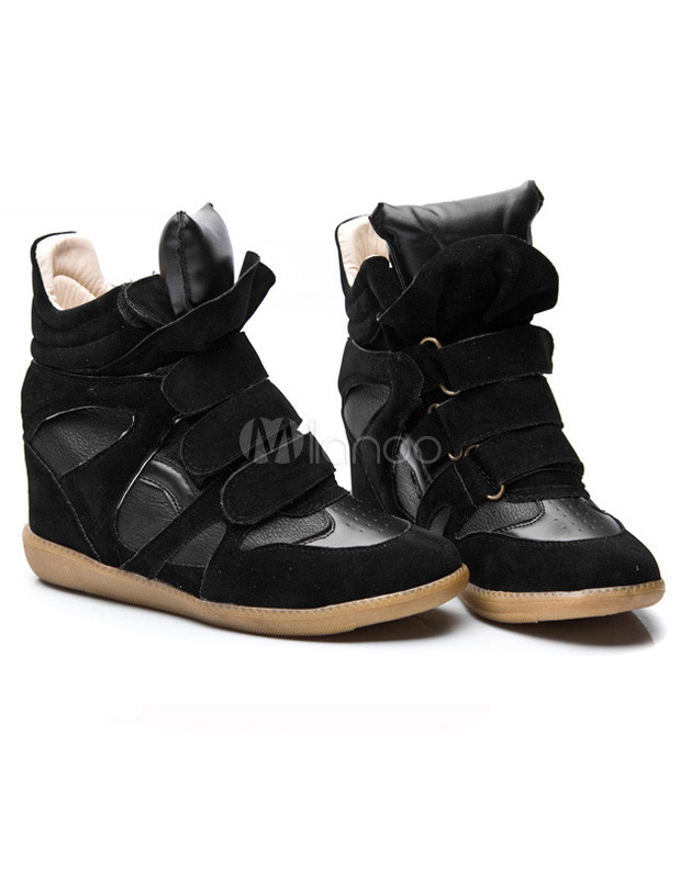 sneaker mit keilabsatz schwarz damen sneakers keilabsatz. Black Bedroom Furniture Sets. Home Design Ideas