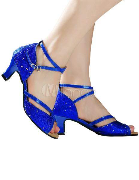 1211fa8992d383 chaussure bleu roi petit talon