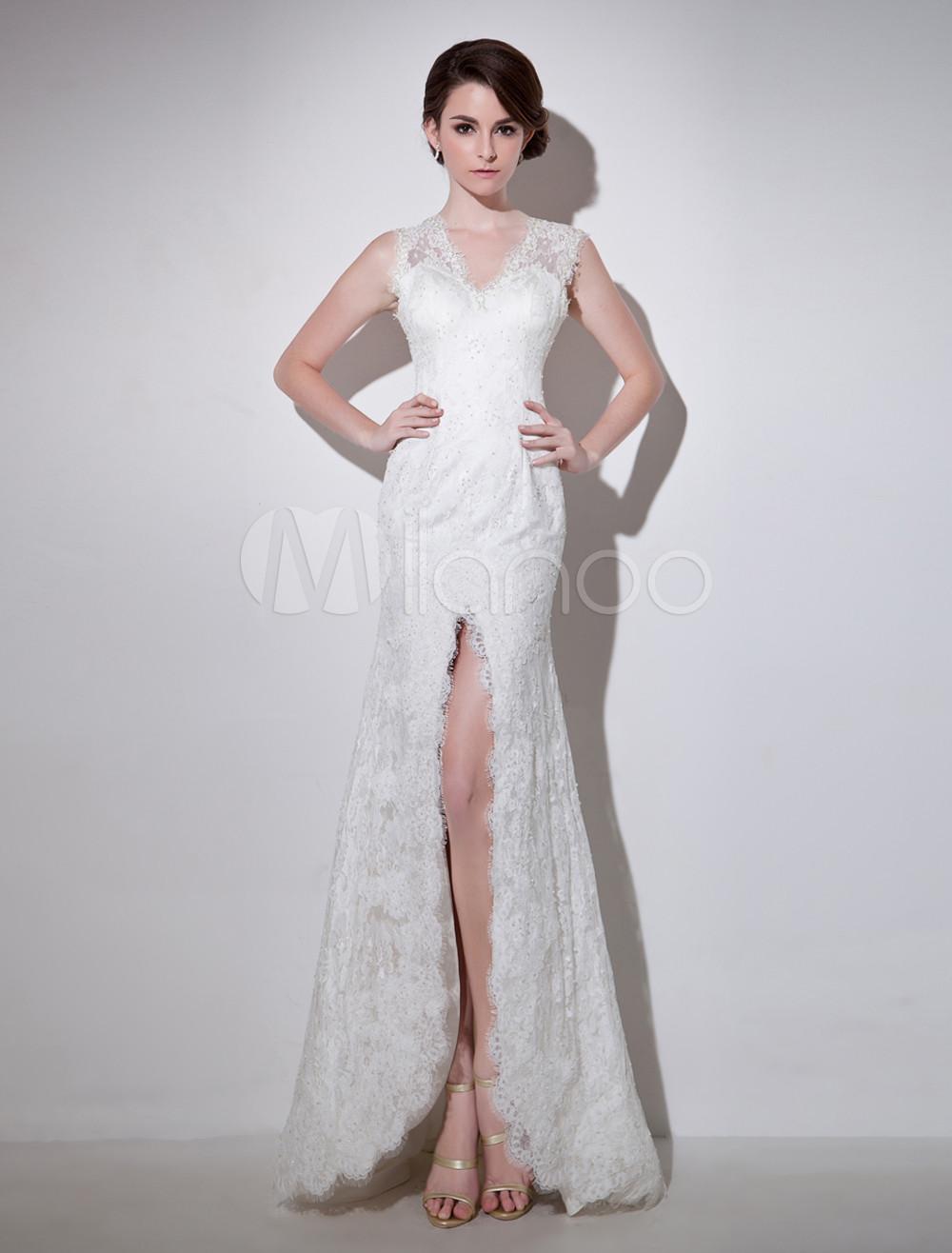 Etui brautkleid mit v ausschnitt milanoo etui stil flanevo for Milanoo abendkleider