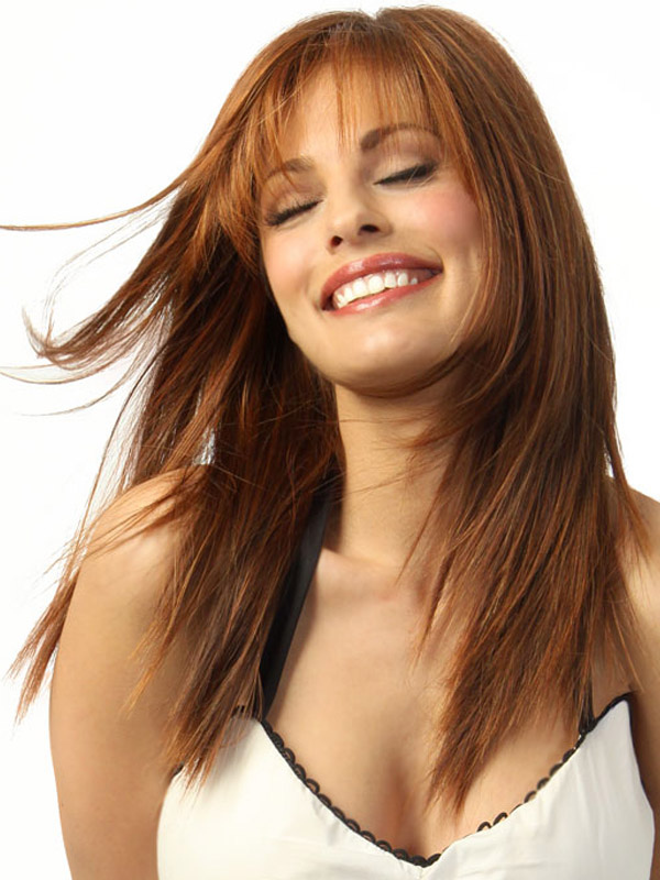 Hot style fashion wig new charm women s long brown straight full wigs