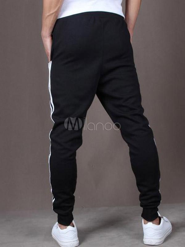 pantalon de sport homme en coton avec lastique taille. Black Bedroom Furniture Sets. Home Design Ideas