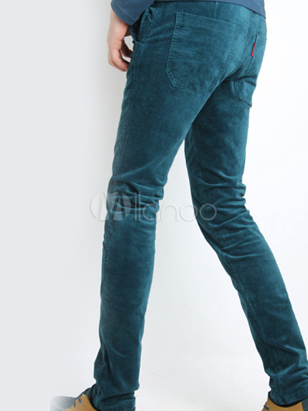 Corduroy Skinny Smart Skinny Pants For Men - Milanoo.com